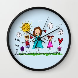 To Mom With Love Wall Clock