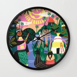Latin Cultures Wall Clock