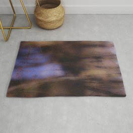 Creek in the autumn mist  Rug