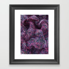 Red Fruits Dots Framed Art Print