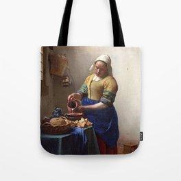 Jan Vermeer-The Milkmaid Tote Bag
