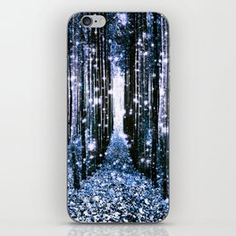 Magical Forest Dark Blue Elegance iPhone Skin