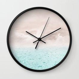 Pastel vibes 40 - Serenity Wall Clock