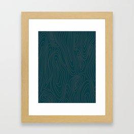 Ring Lines Framed Art Print