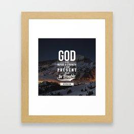 God is your refuge Framed Art Print