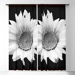 Sunflower In Black And White #decor #society6 #buyart Blackout Curtain