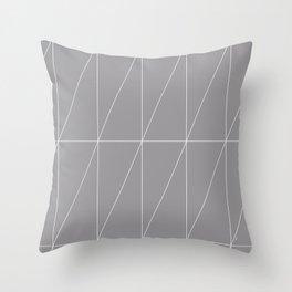 Grey Triangles by Friztin Throw Pillow