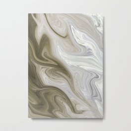 Pastel Brown & Beige Metal Print