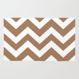 Tuscan tan - brown color - Zigzag Chevron Pattern Rug