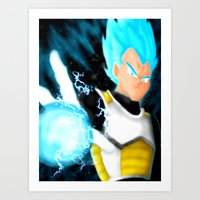 vegeta Art Prints featuring SSGSS Vegeta by AmaterasuVG