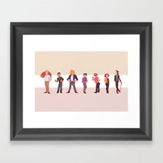 Off-Hours Framed Art Print