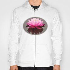 Pink lily bloom reflected Hoody
