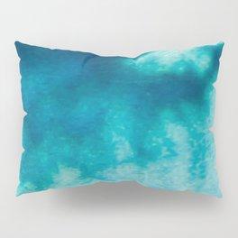 Blue Corruption Pillow Sham