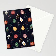 Vegetables pattern Stationery Cards