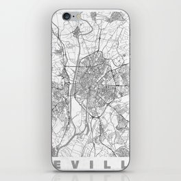 Seville Map Line iPhone Skin