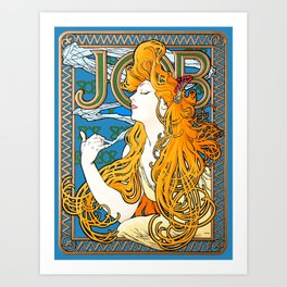 "Alphonse Mucha ""Job"" Art Print"