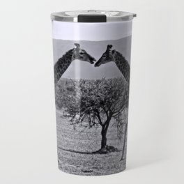 Giraffe talk Travel Mug