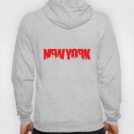 New York Skyline - Red Hoody