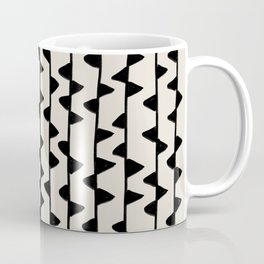 Triangles / Black & White Pattern Coffee Mug