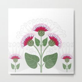 Burdock flowers Metal Print