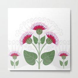 Decorative burdock flower Metal Print