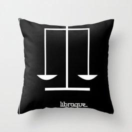 Libra ~ Libraque ~ Zodiac series Throw Pillow