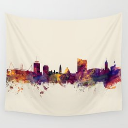 Cardiff Wales Skyline Wall Tapestry