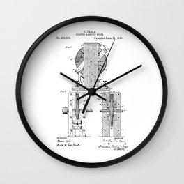 Nikola Tesla Electro Magnetic Motor Patent Art Wall Clock