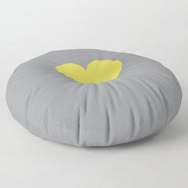 ULTIMATE GRAY WITH ILLUMINATING YELLOW HEART  Floor Pillow
