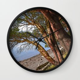 MADRONA TREES EAST END OF CRESCENT BEACH Wall Clock