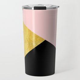 Color Bloc Triangles Travel Mug