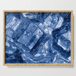 Ice cubes background Serving Tray