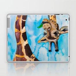 friendly giraffe Laptop & iPad Skin