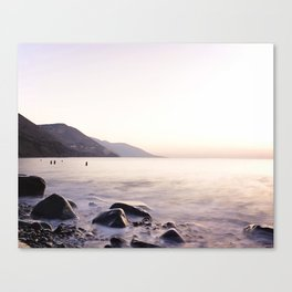 Water Washing Over the Rocks at Sunset, Waterville Beach, County Kerry, Ireland Canvas Print