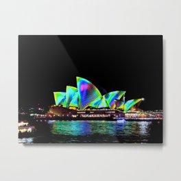 Sydney Opera House Vivid Light Show Metal Print