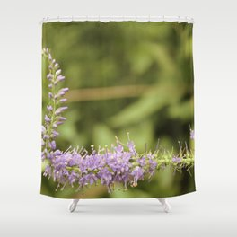 Purple Abstract Flower Vintage Shower Curtain