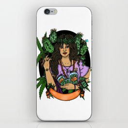 Our Lady of Perpetual Budtending iPhone Skin