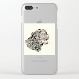 Happy as a Dog Clear iPhone Case