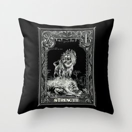 STRENGTH of Tarot Cat Throw Pillow