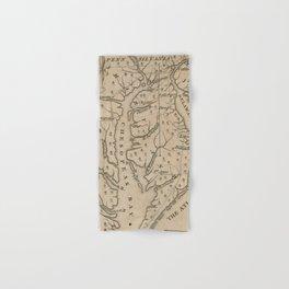 Vintage Map of The Chesapeake Bay (1769) Hand & Bath Towel