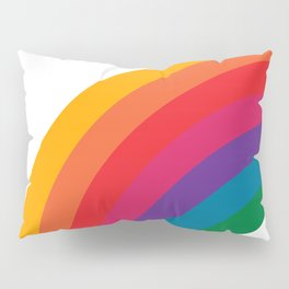Retro Bright Rainbow - Left Side Pillow Sham