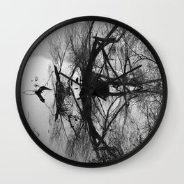 Mirrored branches Wall Clock