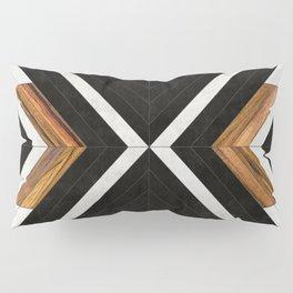 Urban Tribal Pattern 1 - Concrete and Wood Pillow Sham