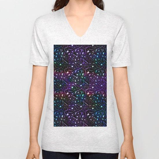 Midnight Rainbow Glitter Unisex V-Neck