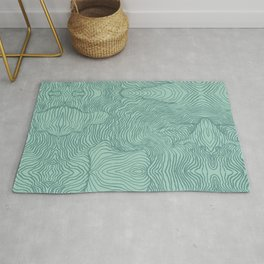 Perception in Mint Green Rug