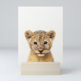 Baby Lion, Baby Animals Art Print By Synplus Mini Art Print