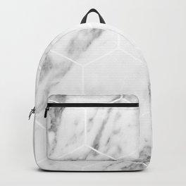 White marble hexagonal beehive Backpack