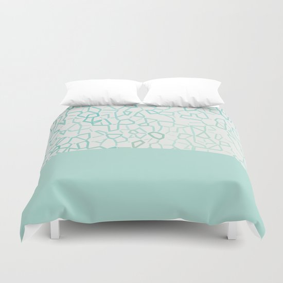 Abstract on Turquois Duvet Cover