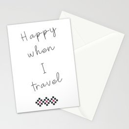 Happy When I Travel Stationery Cards
