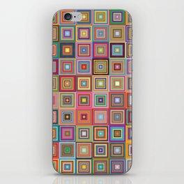 Retro Squares iPhone Skin